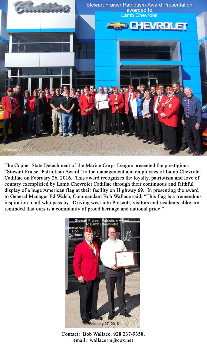 Local News Articles about Marine Corps League Copper State 906 ...